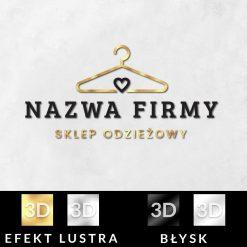 Trójwymiarowy logotyp z nazwą firmy i serduszkiem do butiku
