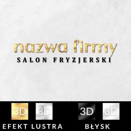 Przestrzenny logotyp 3d dla fryzjera