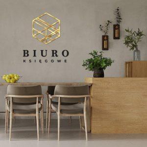 Logo 3D na ścianę dla księgowej