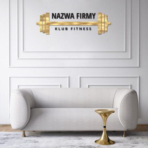 Klub fitness - logotyp 3d ze sztangą