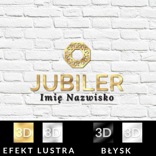 Logo 3d dla jubilerem z ornamentem