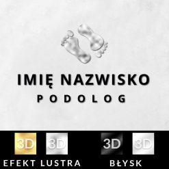 Podolog - logo 3d ze srebrnymi stopami