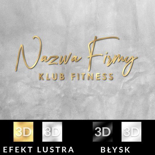 Przestrzenne logo dla klubu fitness