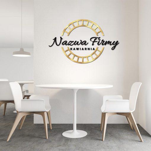 Przestrzenne logo z okrągłym element - kawiarnia