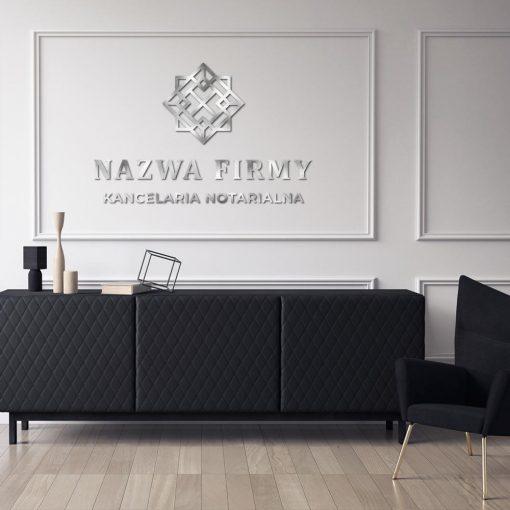 Przestrzenny logotyp z detalem dla notariusza