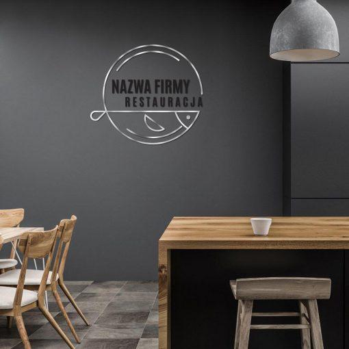 Restauracja - logotyp 3d z rybą