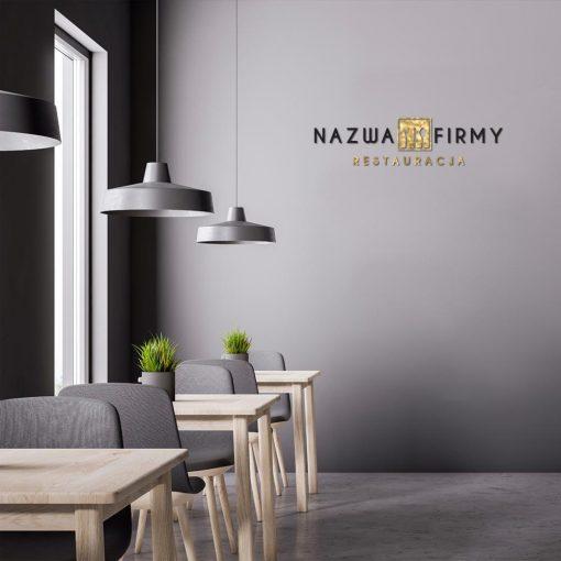 Spersonalizowane logo ze sztućcami dla restauracji