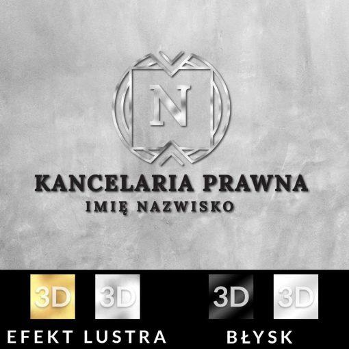 Trójwymiarowy logotyp dla kancelarii prawnej