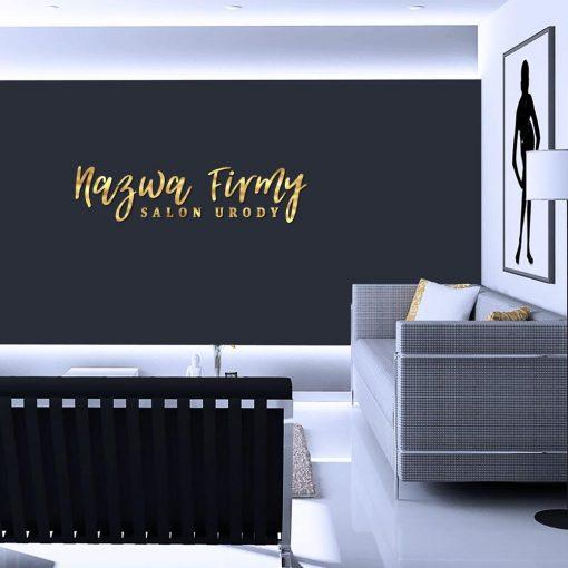 Wspaniały logotyp dla salonu urody 3d