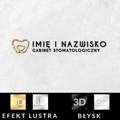 Dwukolorowe logo z elementem dla stomatologa