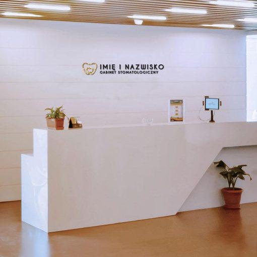 Logo 3d elementem dla stomatologa